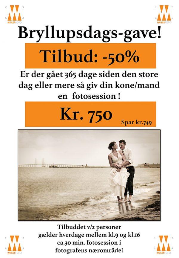Mangler du en bryllupsgave-idé og er der gået 365 dage siden den store dag eller mere så giv din kone eller mand en fotosession sammen med Billedkomponisten v/ fotograf Søren weile i København