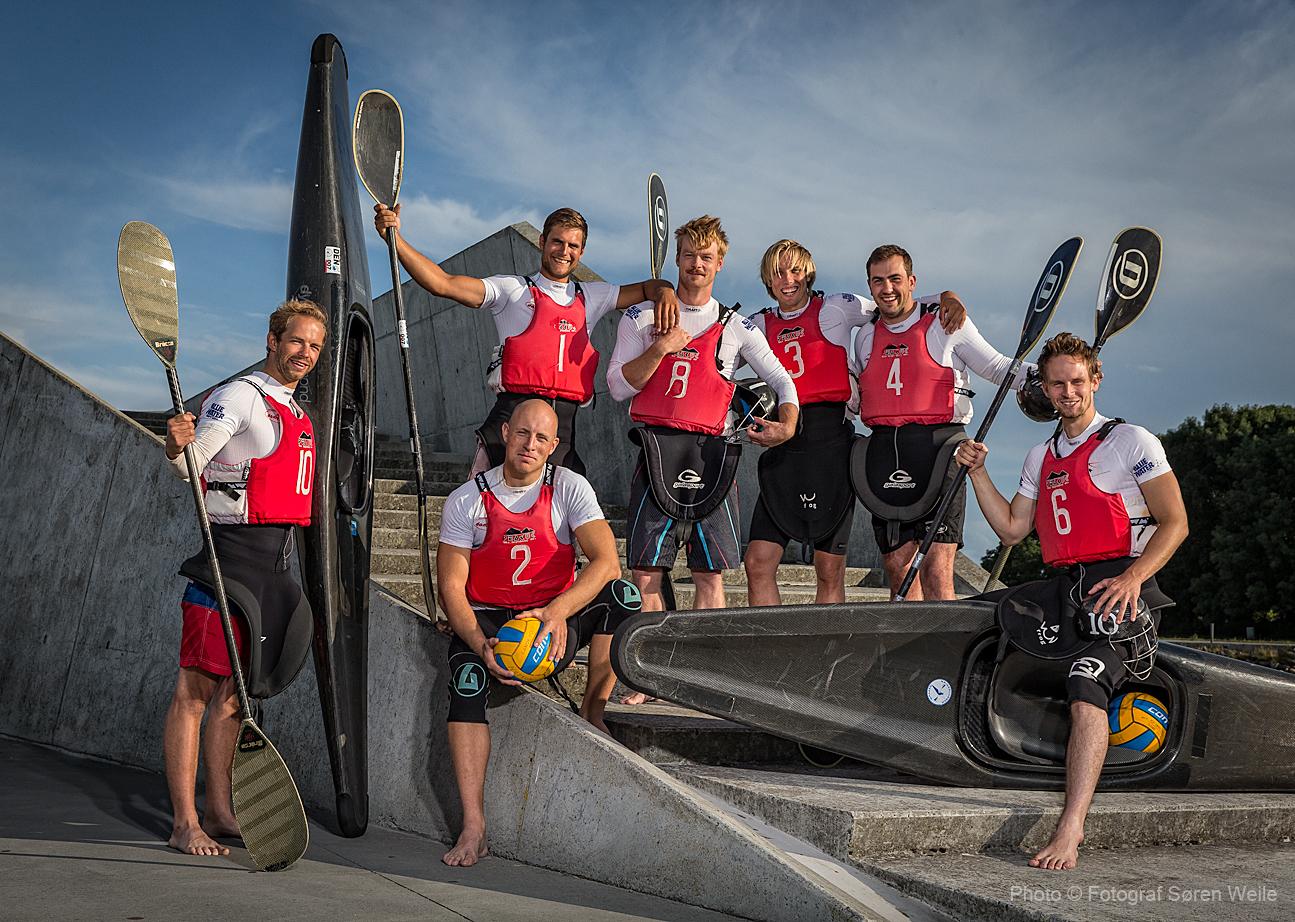 De Danske Kajakpolo Landshold 2014 Fotograferet på Amager Strand