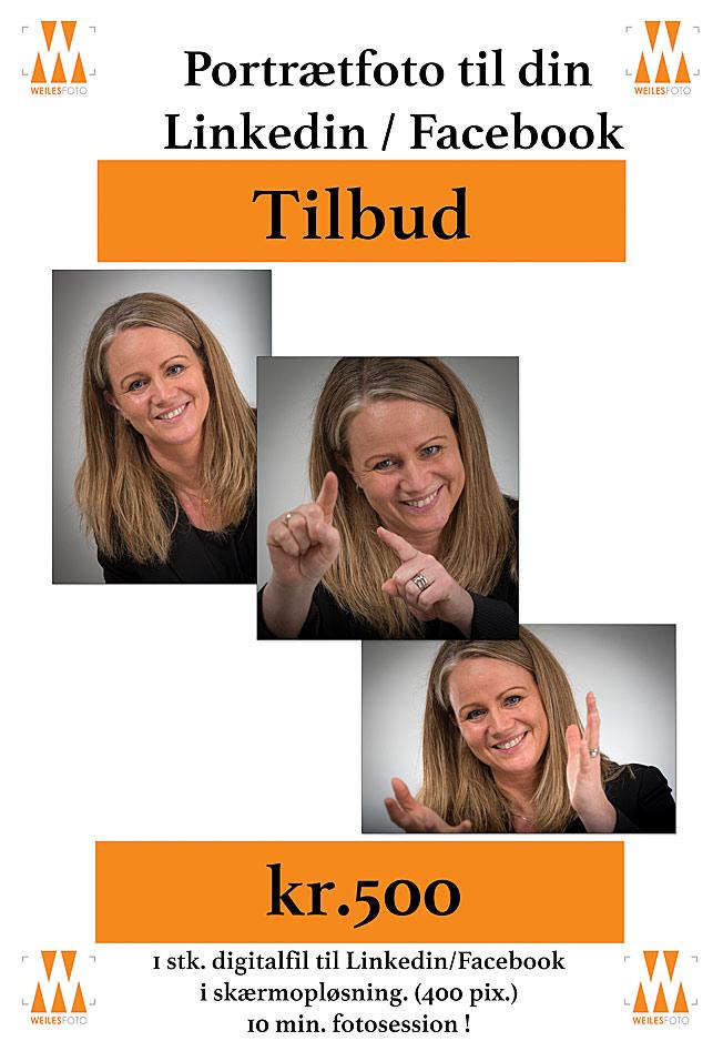 Linkedinfoto tilbud. Portrætbilledet kan gøre den stor forskel!