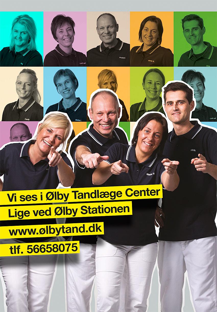Reklame på Busbagsmækken af Køge`s smukkeste Tandlæger
