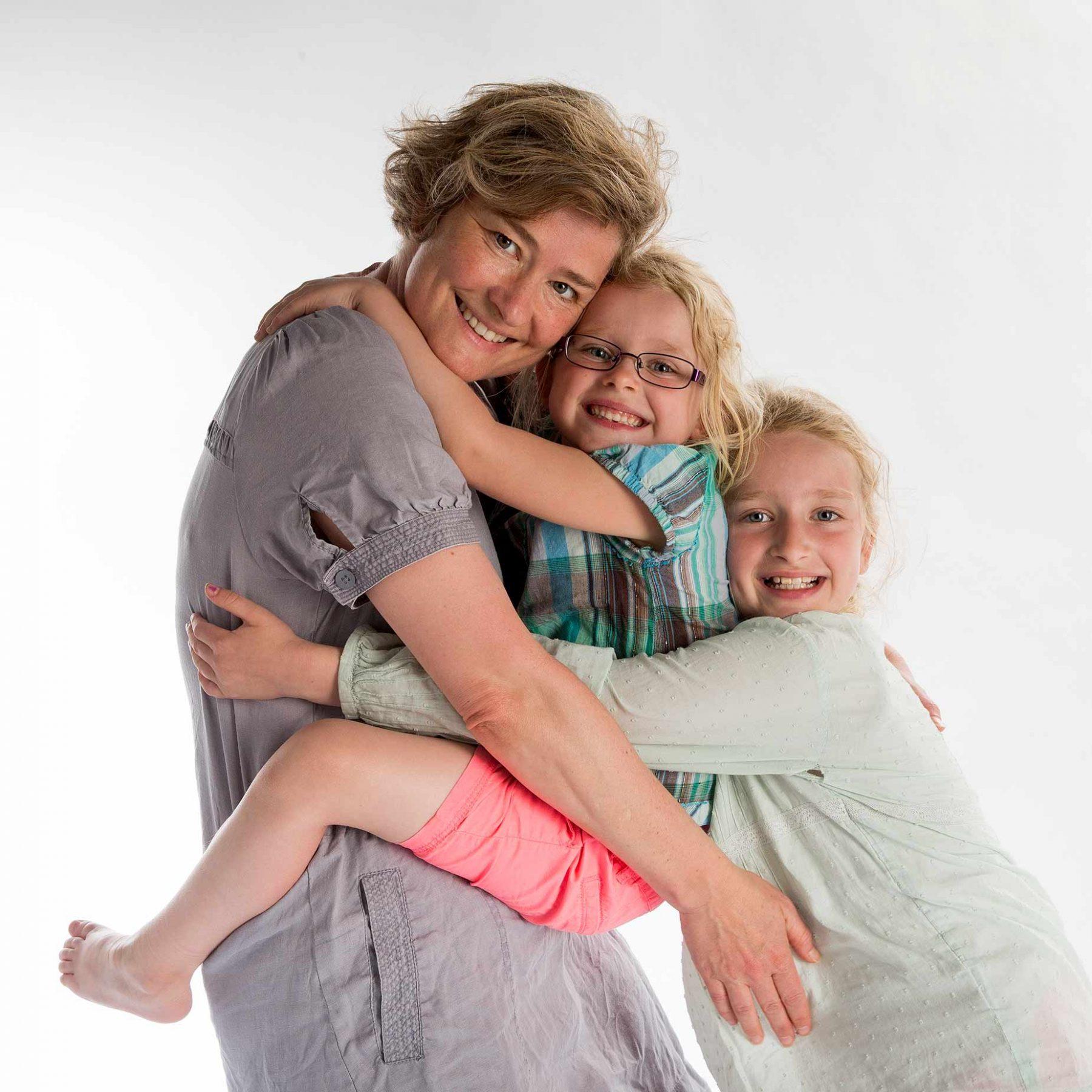 Portrætfoto af familien bergstrøm Bergstrøm