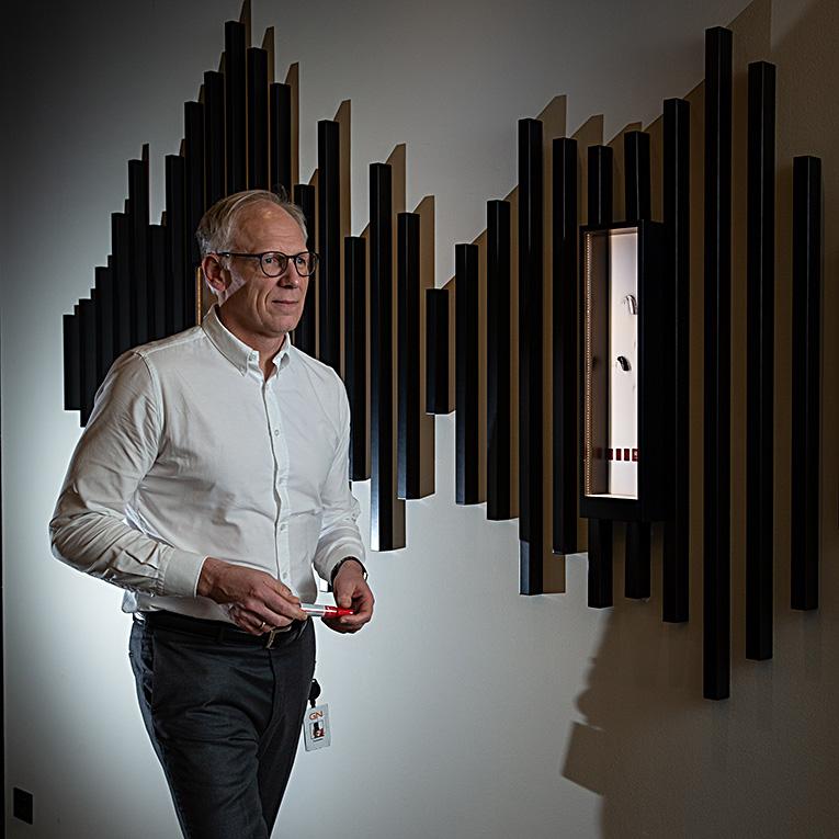Erhvervs og reportagefoto hos GN store nord sammen med Genau & More af fotograf Billedkomponisten.dk