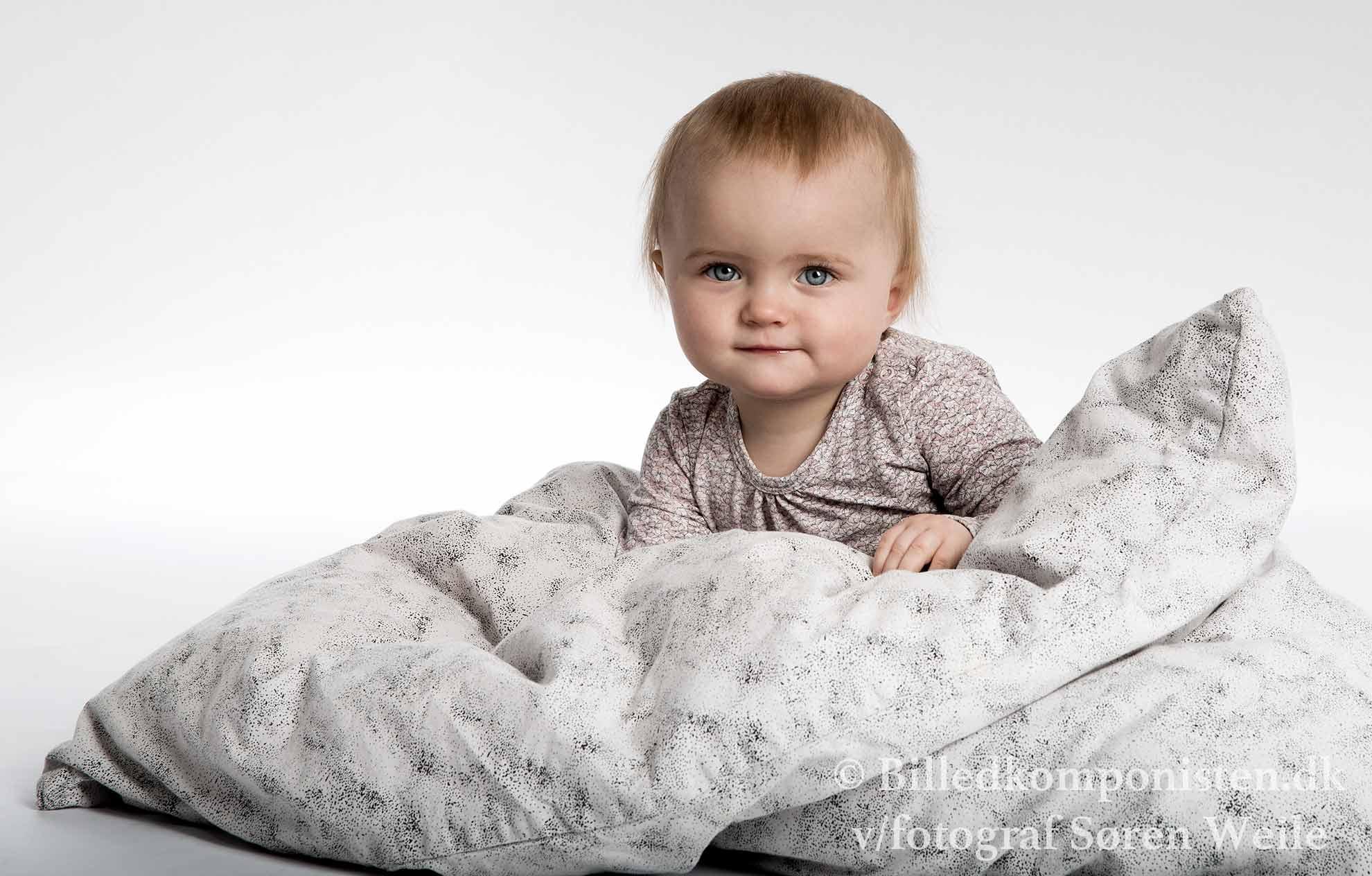 Babyfoto i fotostudiet