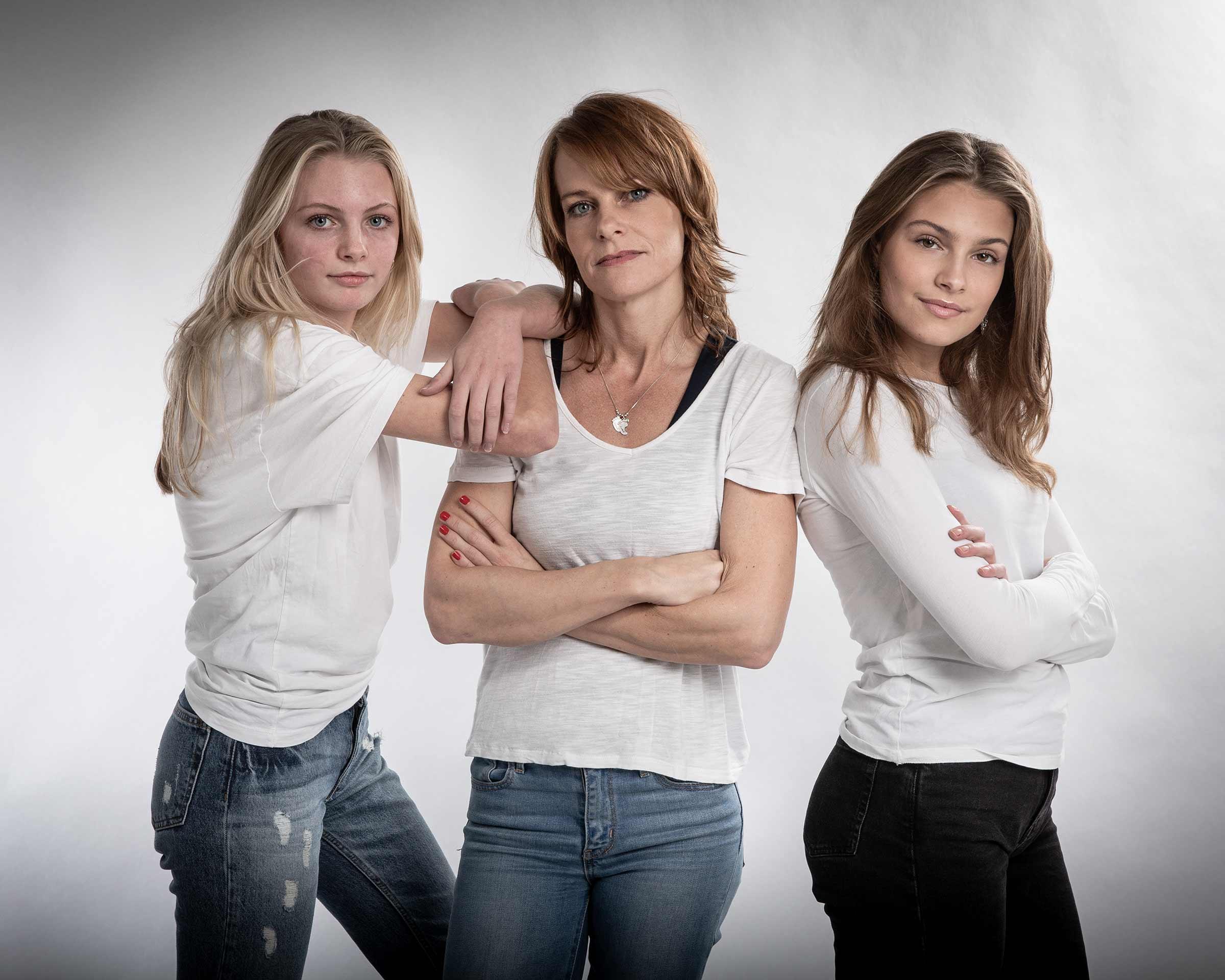Mor med døtre